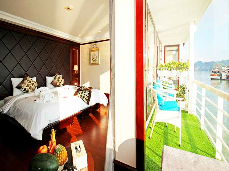 Executive Ocean View - 1 Pax/ Cabin (Location: 2nd Deck - Private Balcony)