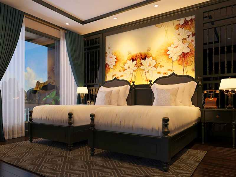 Halong Suite - 2 Pax/ Cabin (Location: 2nd Deck - Private Balcony)