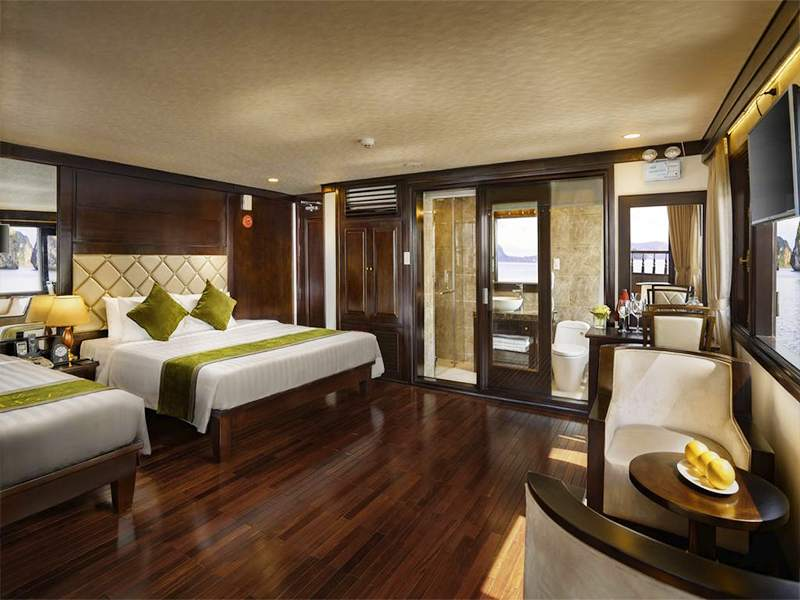 Triple Premier Suite Balcony - 3 Pax/ Cabin (Location: 2nd and 3rd deck - Jacuzzi, Private balcony with chair and table)
