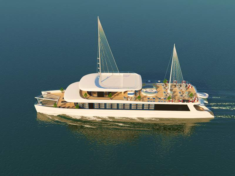 Catamaran Cruise - Halong Bay - Lan Ha Bay - 1 Day Tour (Grand Opening - Big Promotion)